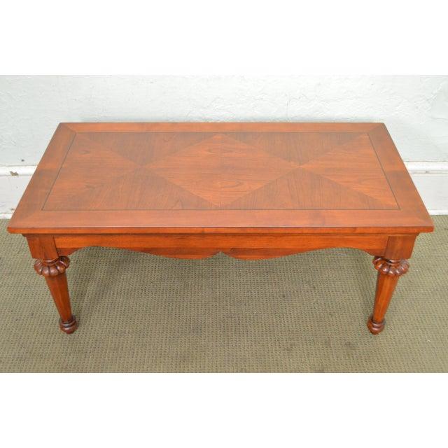 Lexington Cherry Wood Regency Style Rectangular Coffee Table - Image 4 of 10