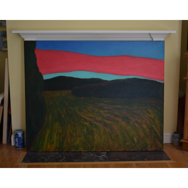 """Canvas """"Sunset Over Tilled Fields"""" Large Painting by Stephen Remick For Sale - Image 7 of 11"""