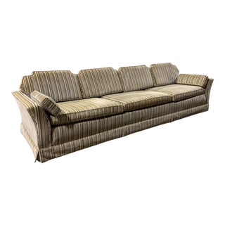 Mid-Century Sofa in Striped Velvet Chenille by Homer Brother's Furniture For Sale