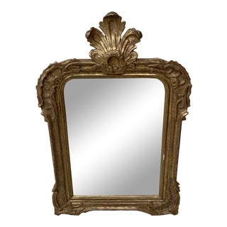 19th Century French Louis Philippe Carved and Gilt Wood Mirror For Sale