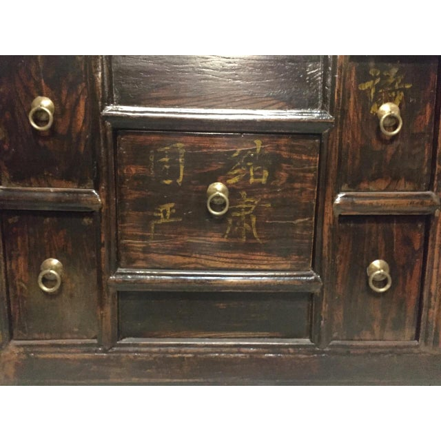 Gold Antique Solid Wood Chest of Drawers For Sale - Image 8 of 11