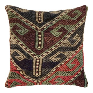 """Rustic Mid-Century Kilim Pillow 