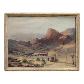 1940s Clarence W. Staley Western Landscape Oil Painting For Sale