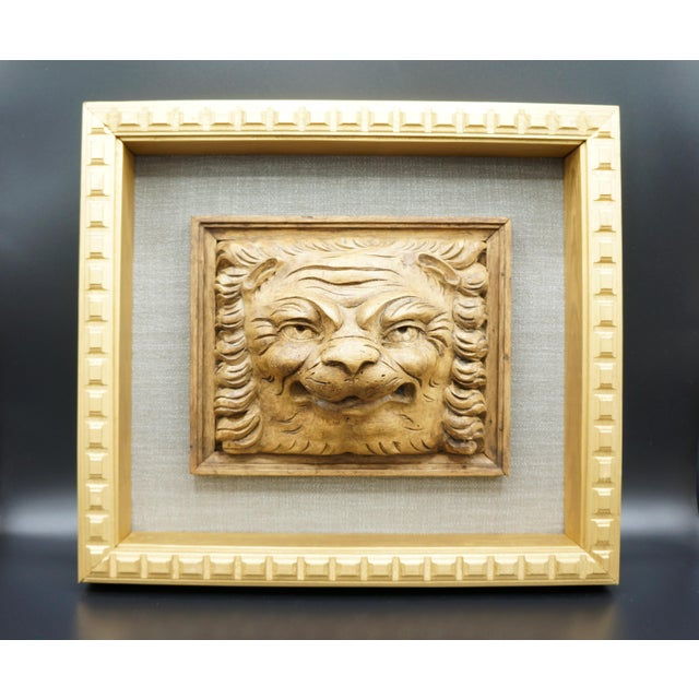 19th Century Framed Lion Head Fragment For Sale - Image 4 of 7