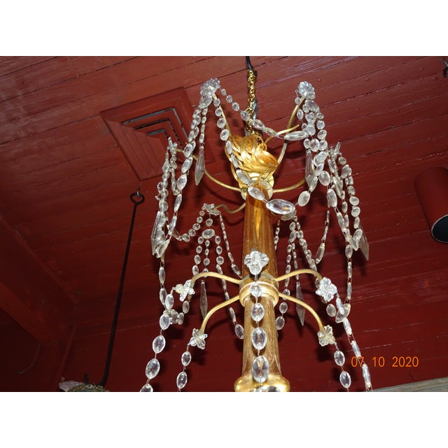 Late 19th Century 19th Century Italian Crystal Chandelier For Sale - Image 5 of 13