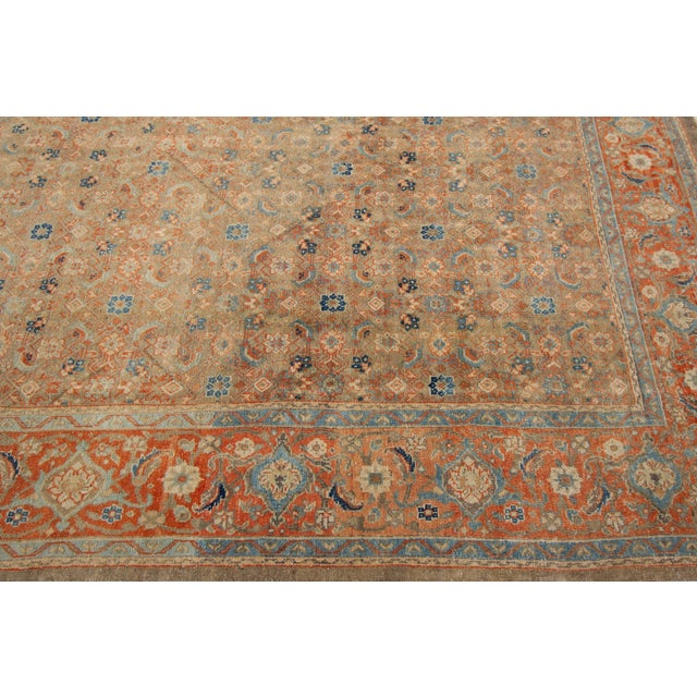 "Brown Vintage Persian Rug, 9'5"" X 12'7"" For Sale - Image 8 of 12"