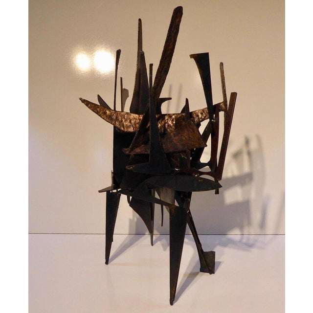 """Joey Vaiasuso """"Four Corners"""" an Original Contemporary Steel and Bronze Sculpture by American Artist Joey Vaiasuso For Sale - Image 4 of 8"""