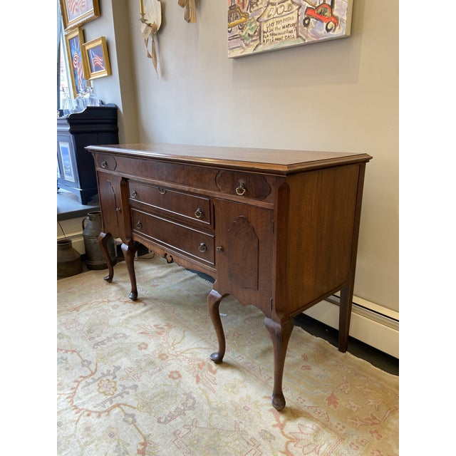 1920s Antique French Mahogany Sideboard For Sale - Image 5 of 10
