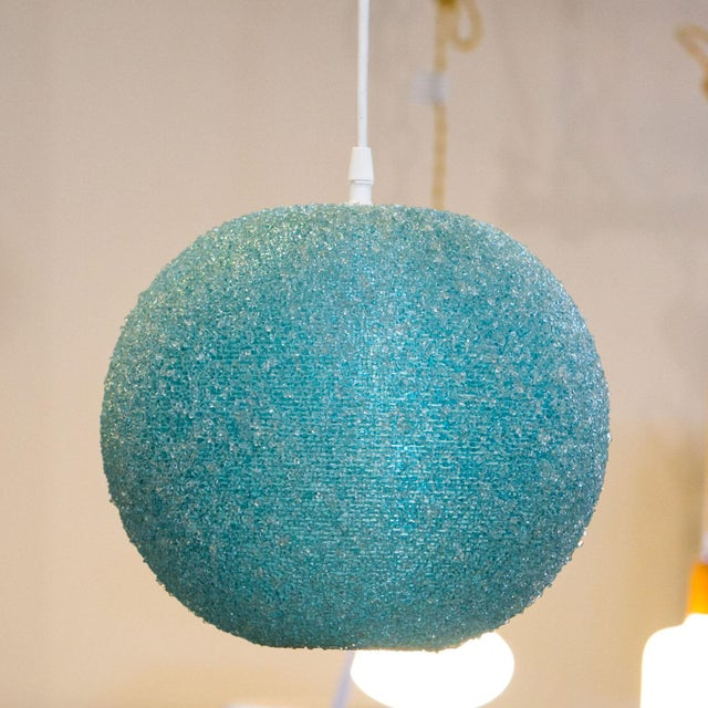 Modern Textured Globe-Shaped Light For Sale - Image 6 of 6