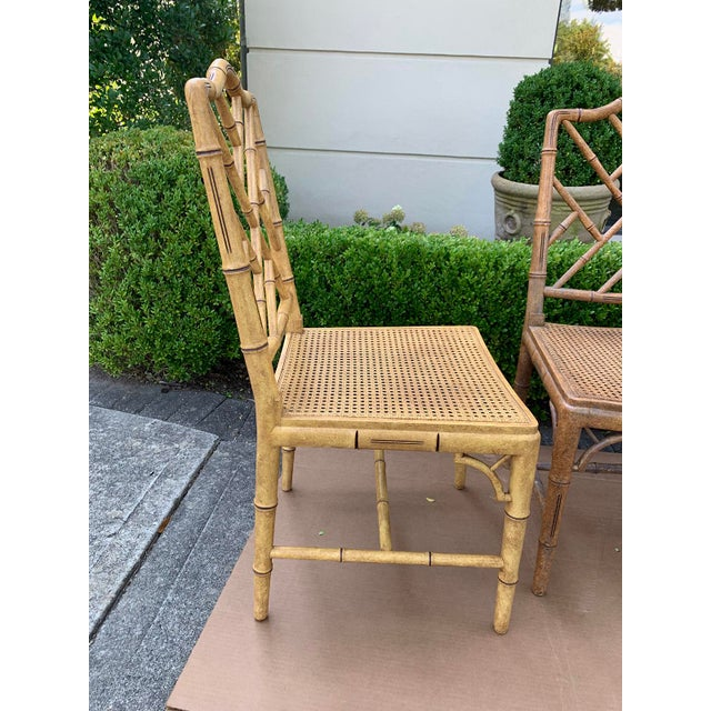 Mid-20th Century Faux Bamboo Dining Chairs- Set of 10 For Sale - Image 9 of 13