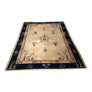 Late 19th Century Antique Chinese Peking Rug - 8′11″ × 11′4″ For Sale