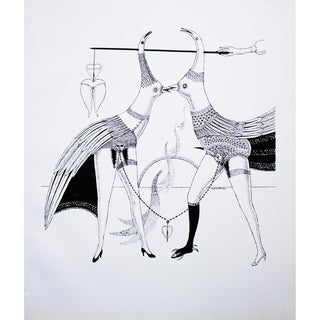 1968 Max Walter Svanberg Composition No. 9, Original Period Black & White Lithograph For Sale
