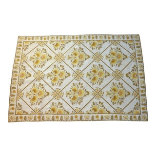 "Handmade Greek Wool Rug, 1960 - 3'1"" x 4'8"" For Sale"