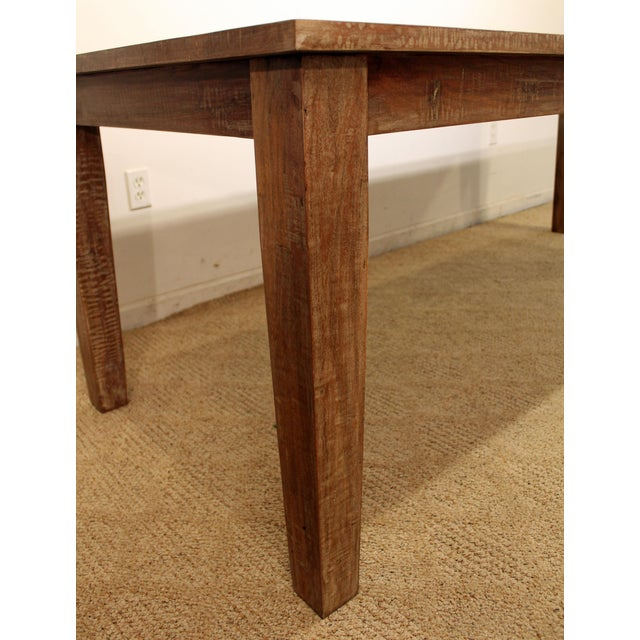 """French Country Farm Rustic Dining Table 90"""" Long - Image 5 of 11"""