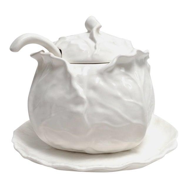 Metlox White Cabbage Tureen Set - Image 1 of 8