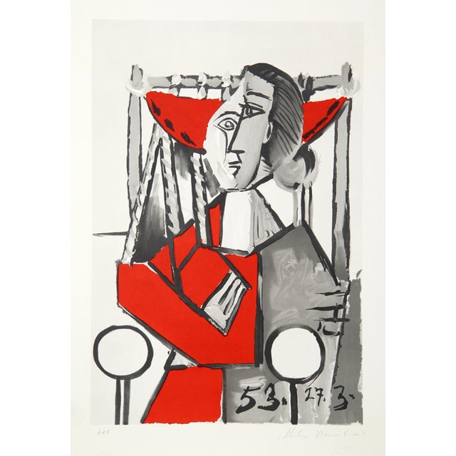 Pablo Picasso, Femme Assise, Lithograph For Sale
