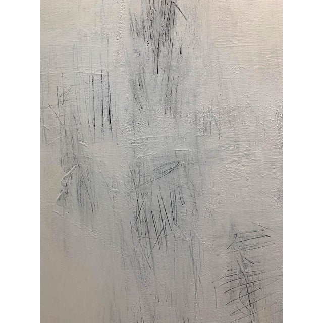 2010s Original Modern White on White Painting For Sale - Image 5 of 6