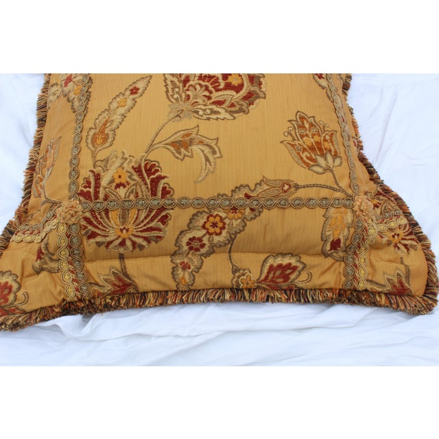 Silk 20th Century Italian Mediterranean Down Pillow For Sale - Image 7 of 9