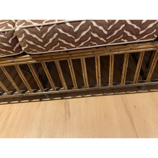 1930s Rattan 3 Cushion Sofa For Sale In Portland, ME - Image 6 of 9