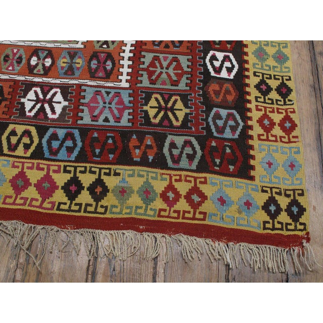 Red Superb Antique Bayburt Kilim For Sale - Image 8 of 10