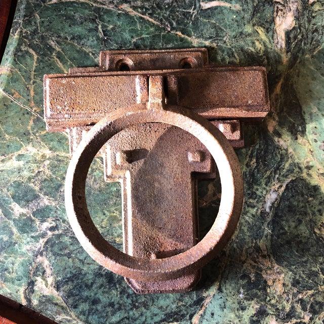 1940s Art Deco Metal Door Knocker For Sale - Image 4 of 7