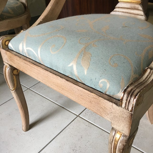 Roman Style Library Chairs - A Pair For Sale - Image 9 of 11