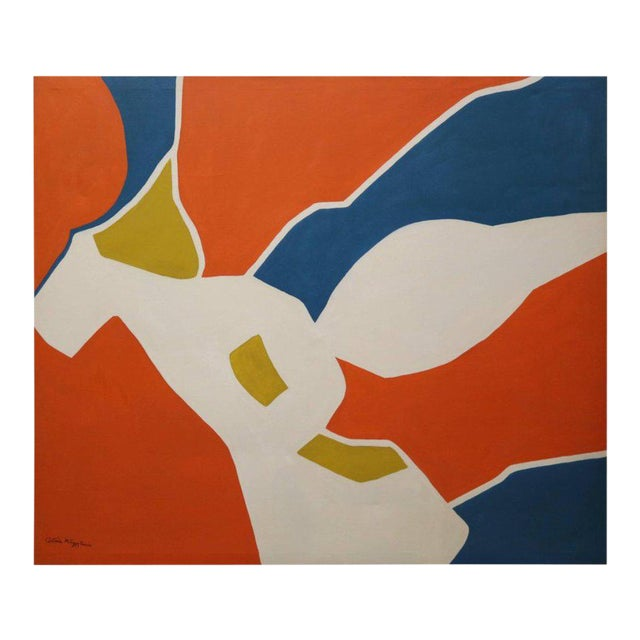 Large-Scale Hard Edge Painting by Antonia Davis For Sale
