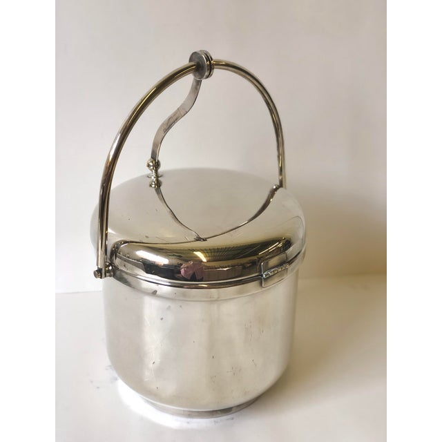 Silverplated Swing Top Ice Bucket and Tongs, Reed & Barton - a Pair For Sale In Atlanta - Image 6 of 13