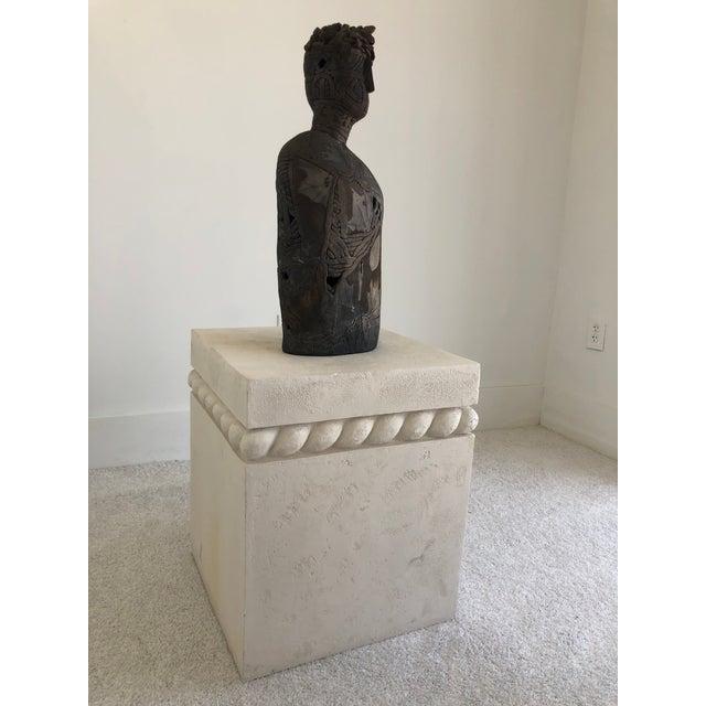 Vintage Postmodern Decorative Plaster Pedestal For Sale - Image 9 of 10