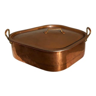 French Copper Flounder Pot