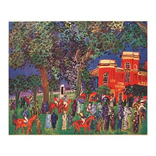 "1947 Raoul Dufy ""Paddock"" Original Period Parisian Lithograph For Sale"