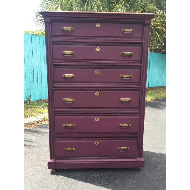 Wait until you see this piece in person ! Early American 1870 - 1900 Era Antique. Beautiully done and extremely sturdy,...