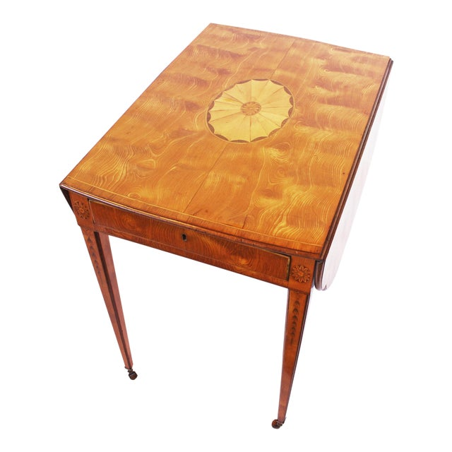 Spectacular George III Sheraton Pembroke Table For Sale