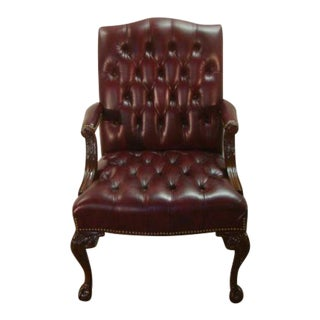 Hancock and Moore Leather President's Chair For Sale