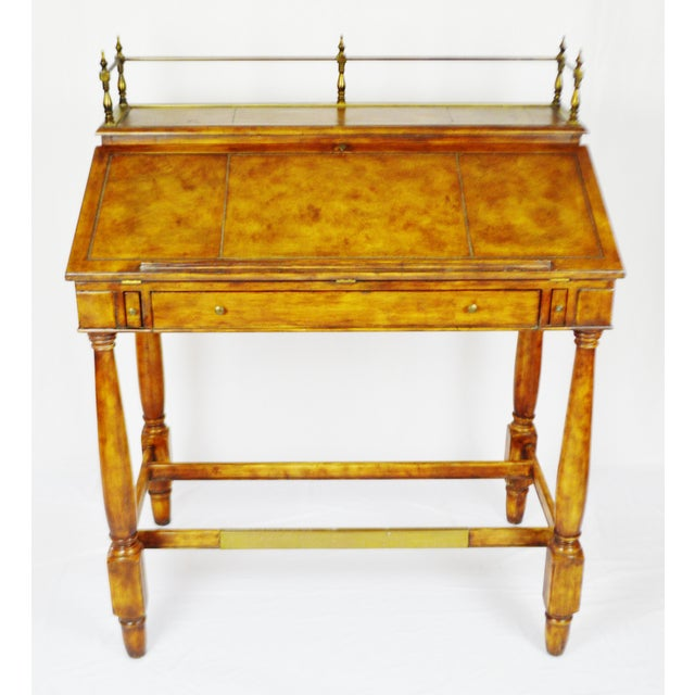 Vintage Thomasville Furniture Ernest Hemingway desk with matching chair. The interior workspace offers 6 drawers and 4...