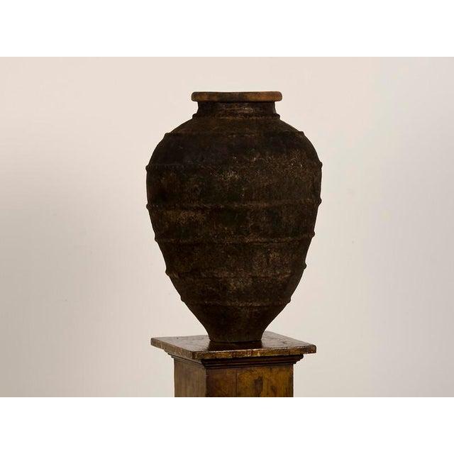 Italian 19th Century Italian Raised Decoration Terra Cotta Urn For Sale - Image 3 of 8