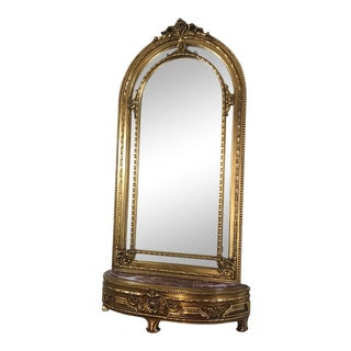 French Louis XV Console With Mirror For Sale