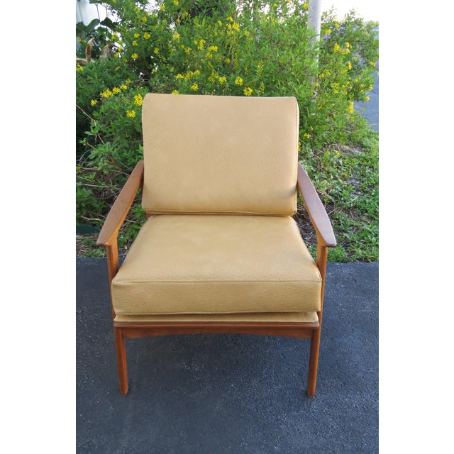 Mid Century Modern Living Bed Room Sling Side Chair 1209 For Sale - Image 9 of 13