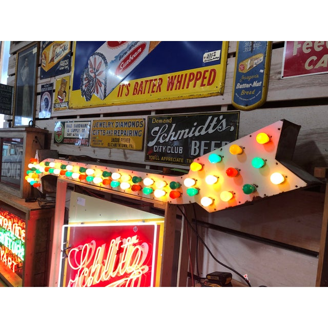 1930's Light Up Arrow Sign For Sale - Image 4 of 8