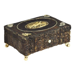 Great Miniature Antler Casket 1860 For Sale