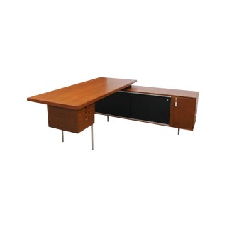 Mid-Century George Nelson for Herman Miller Executive Desk & Side Storage Credenza