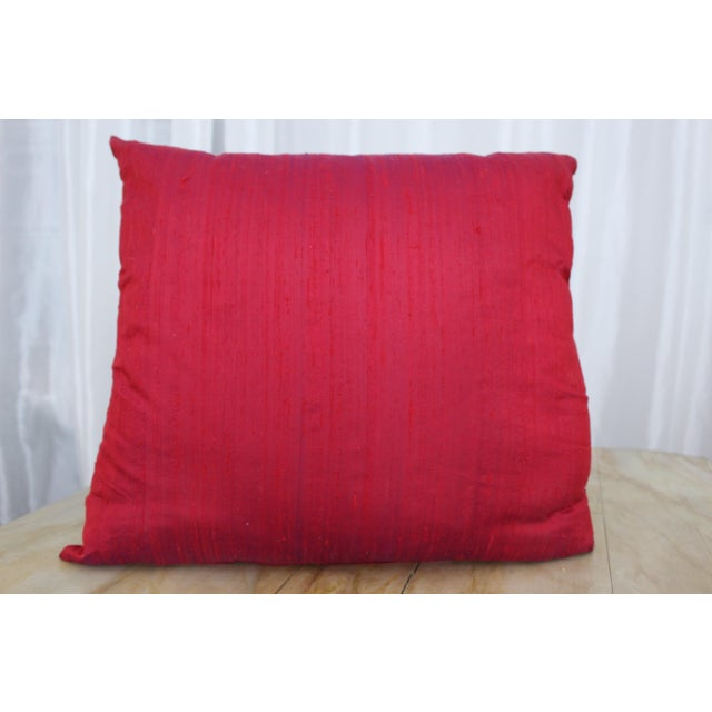 Red Isabelle H. Fortuny Style Hand-Painted Cherry Pillow Cover For Sale - Image 8 of 8