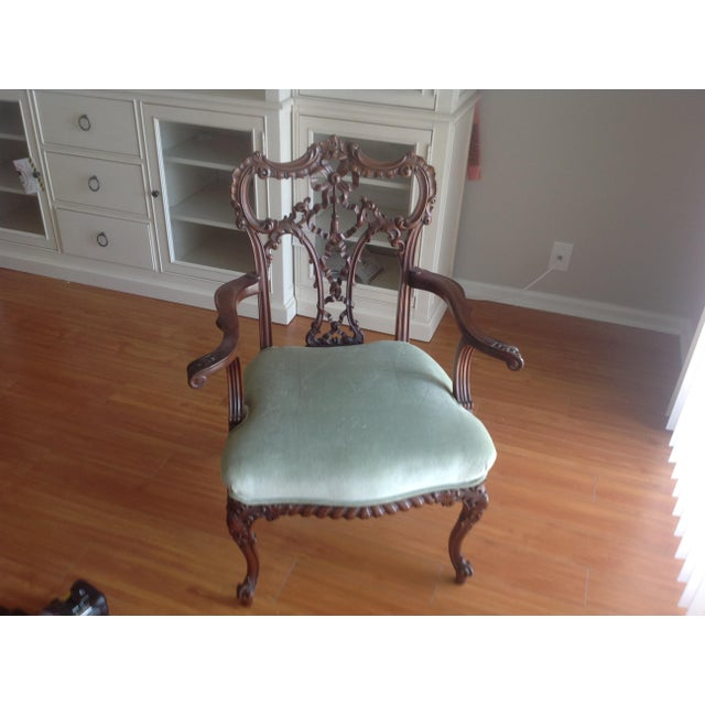 Chippendale Settee and King and Queen Chairs - Set of 3 - Image 4 of 11