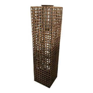 Tall Contemporary Basket Floor Vase For Sale