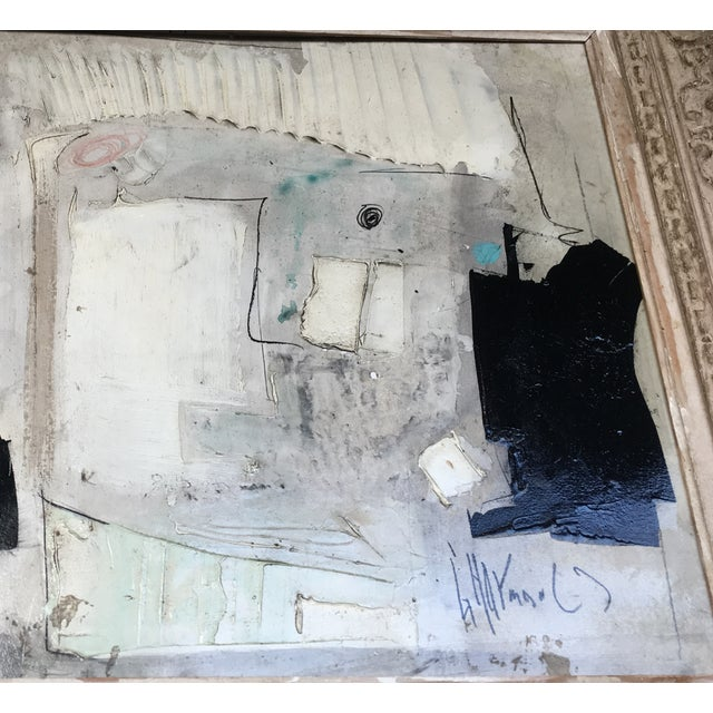 1960s Black & White Abstract Painting For Sale - Image 4 of 9