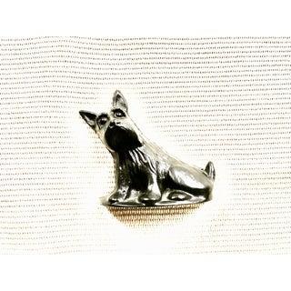 Vintage Black Cast Iron Scottish Terrier Doorstop/Bookend For Sale