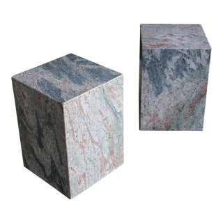 Granite Stone Occasional Tables, Circa 1980 - a Pair For Sale