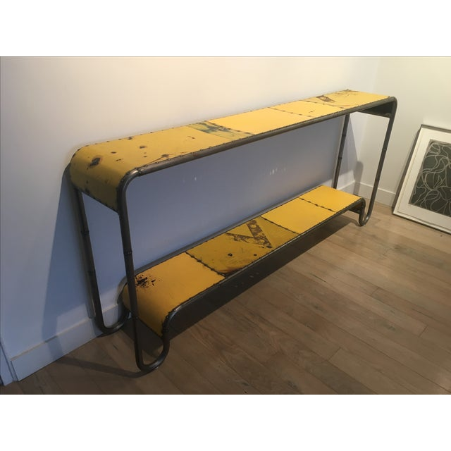 Industrial Salvaged Steel Console - Image 3 of 9
