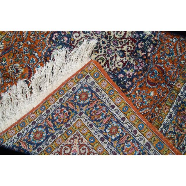 Mid 20th Century Vintage Silk & Wool Kashmir Prayer Rug-3'x5' For Sale - Image 5 of 9