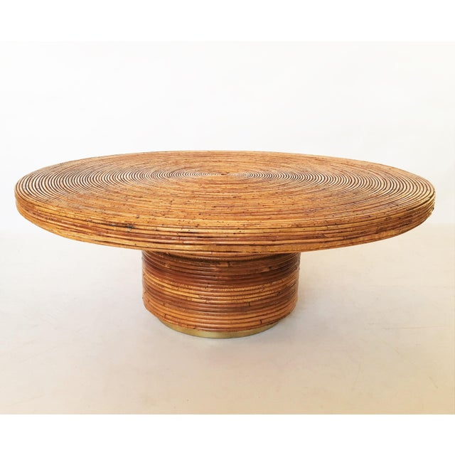 Metal Bamboo and Brass Table For Sale - Image 7 of 7
